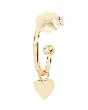 Zoe Chicco Itty Bitty Heart Huggie Earring Gold 1size