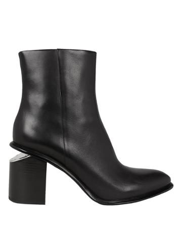 Alexander Wang Anna Cutout Heel High Booties Black 40