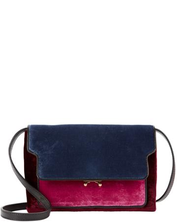 Marni Bags Marni Colorblock Velvet Crossbody Bag Red 1size