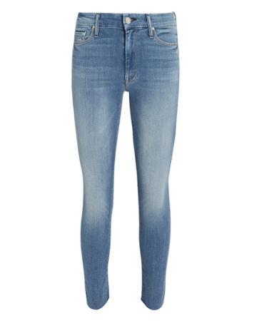 Mother Looker Ankle Fray Jeans Blue-med 23