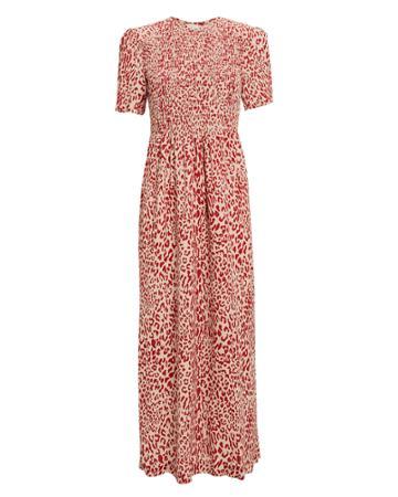 Baum Und Pferdgarten Adamaris Printed Maxi Dress Red/beige 42