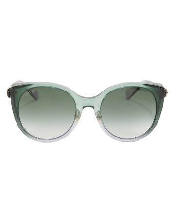 Gucci Gradient Cat Eye Sunglasses Green 1size