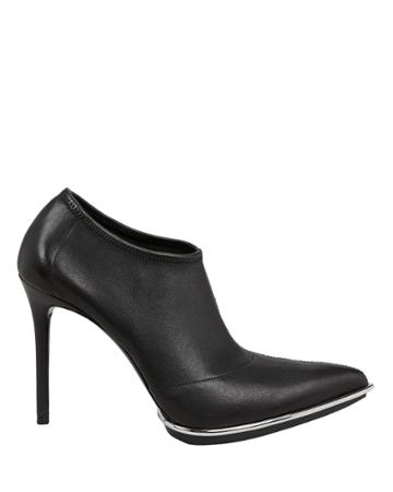 Alexander Wang Cara Silver Trim Booties Black 40