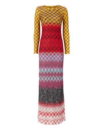 Missoni Multicolor Zig Zag Lurex Dress Multi 40