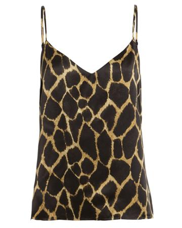 L'agence Jane Silk Safari Camisole Brown/giraffe L