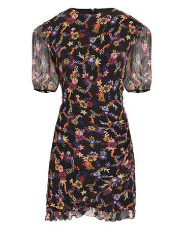 Stevie May Eze Floral Mini Dress Black/floral S