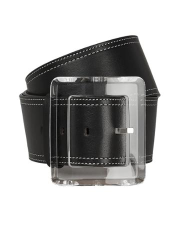 Veronica Beard Corin Leather Belt Black S
