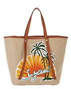 See By Chlo Sunset Logo Canvas Tote Bag