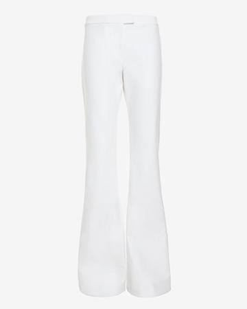 Derek Lam 10 Crosby Flare Stretch Pant: White
