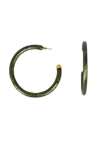 Cult Gaia Malachite Hoop Earrings Green 1size