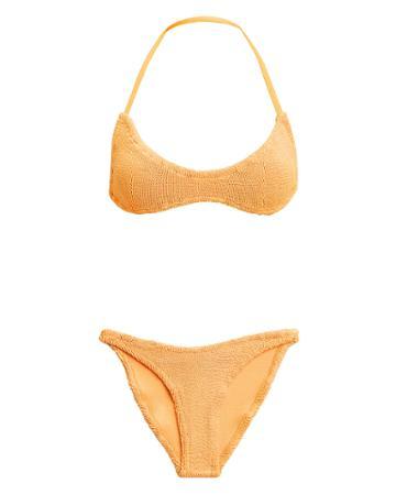Hunza G Collette Spice Tie Back Bikini Light Orange 1size