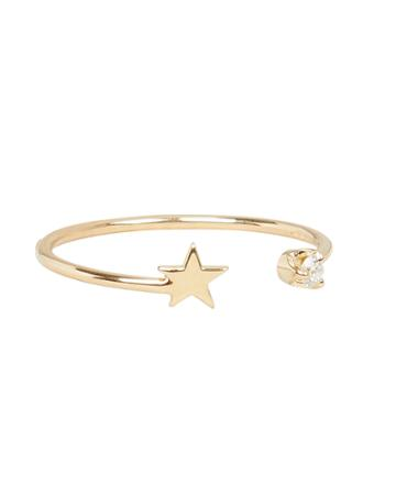 Zoe Chicco Zo Chicco Itty Bitty Star Ring Gold 6.5