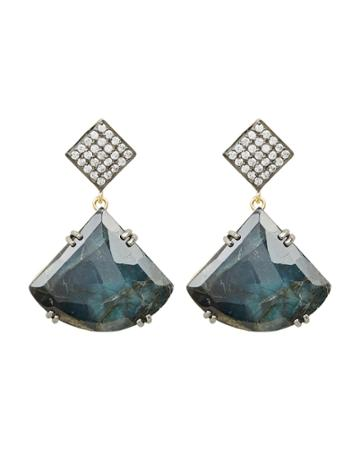 Ela Rae Jewelry Ela Rae Drop Pendant Earrings Blue/crystal 1size