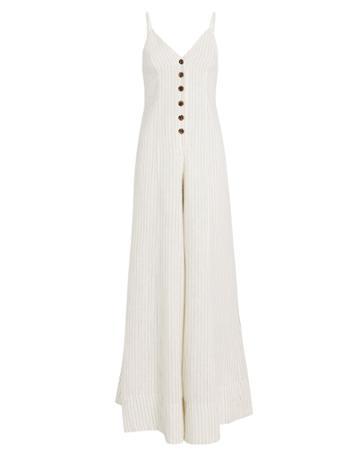 Shona Joy St. Kitts Linen Jumpsuit Ivory 6