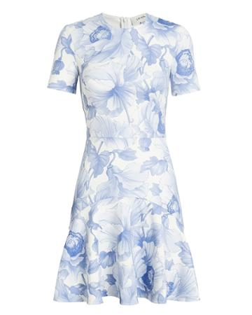 Lover Fleur Flip Mini Dress White/blue 2