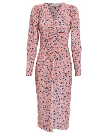 Brogger Brgger Sigrid Floral Velvet Dress Blush M
