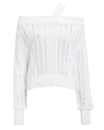Rta Beckett Blanc Off Shoulder Sweater White S