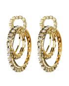 Rosantica Rock Circle Crystal Earrings Gold 1size