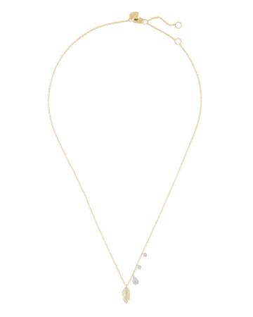 Meira T Feather Delicate Necklace Gold 1size