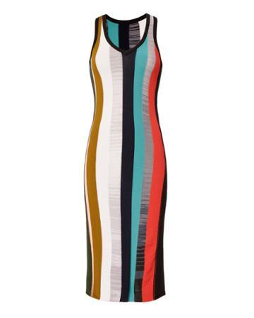 Cinq à Sept Stara Striped Midi Dress