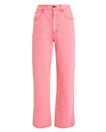 Slvrlake Denim London Straight Leg Crop Jeans Pink 24