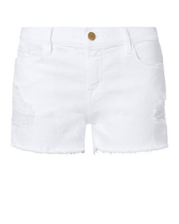 Frame Denim Frame Le Cut Off White Shorts White 24