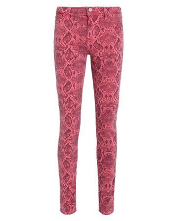 J Brand Snake Printed Skinny Jeans Pink Snake Print 24