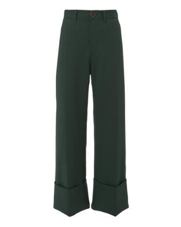 Sea Classic Cuffed Pants Green 8