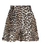 Ganni Leopard Shorts Leopard 38