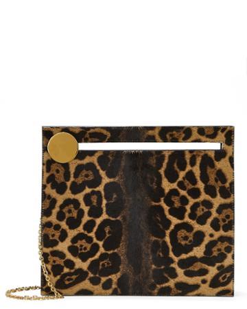 Bienen-davis Max Leopard Clutch Brown 1size