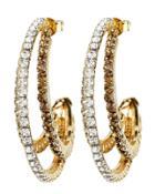 Rosantica Rock Crystal Earrings Gold 1size