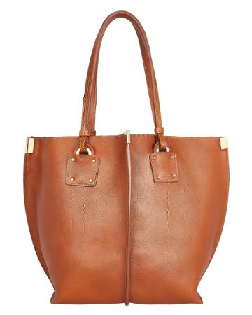 Chloe Chlo Medium Vick Leather Tote Brown 1size