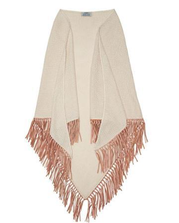 Bajra Exclusive Fringe Trim Basket Weave Scarf
