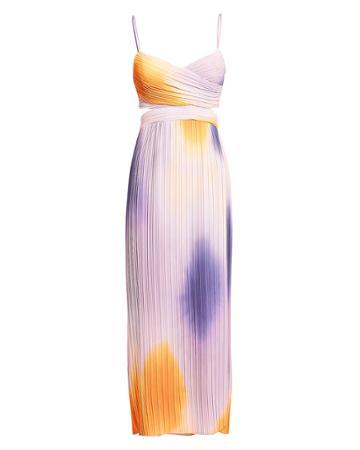 Alc Sienna Ombr Midi Dress Orange/purple/blush 4