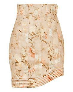 Zimmermann Corselet Floral Mini Skirt