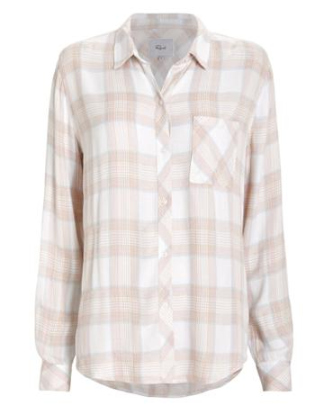 Rails Hunter Plaid Button Front Shirt Blush L