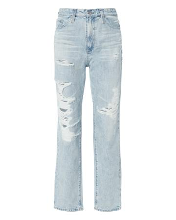 Ag Distressed High-rise Jeans