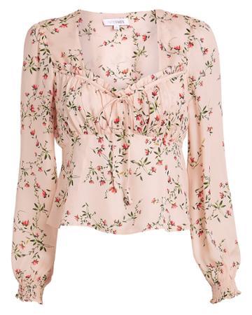 Exclusive For Intermix Intermix Chiara Printed Top Blush/floral 4