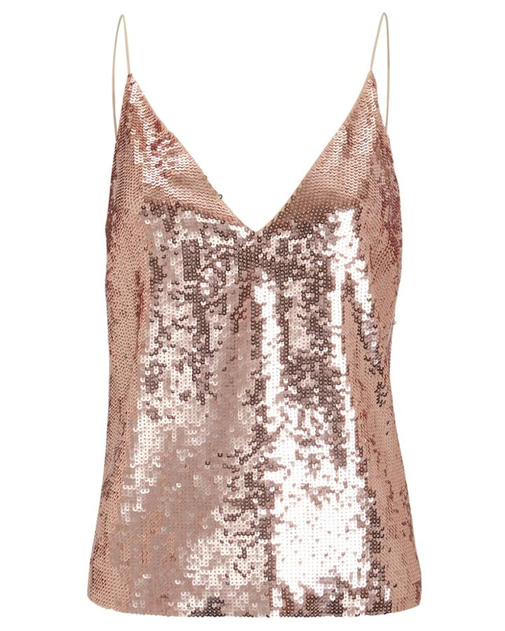 Veronica Beard Coda Sequin Camisole Blush 2