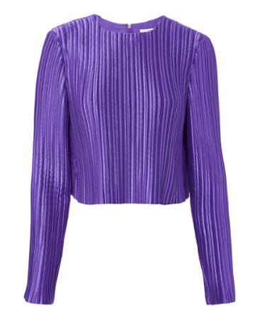 Tibi Pleated Crop Top Purple 2