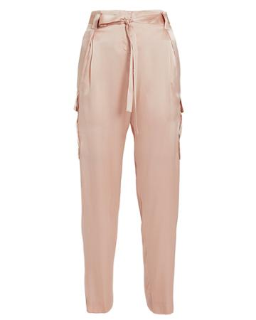 L'agence Roxy Paperbag Cargo Pants Blush 6
