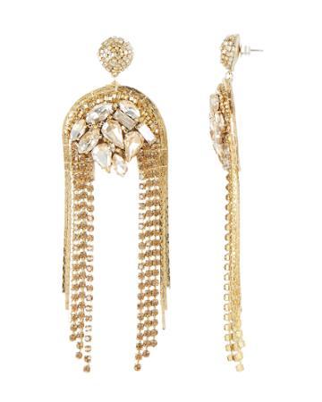 Deepa Gurnani Kylee Earrings Gold 1size
