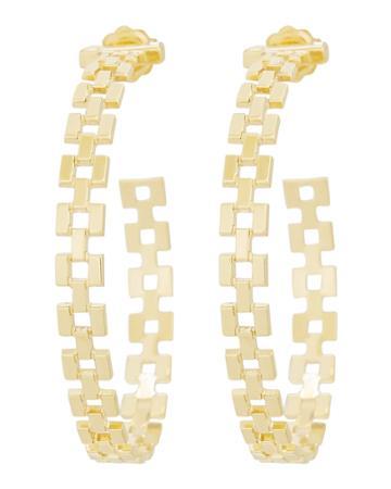 Jennifer Zeuner Portia Links Gold Hoop Earrings Gold 1size