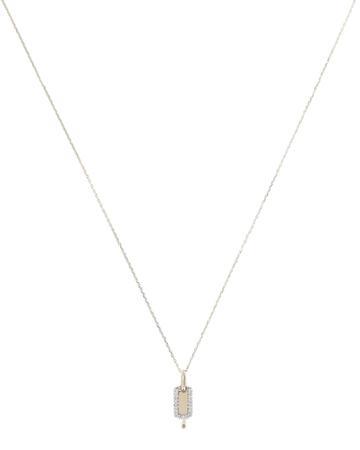 Adina Reyter Tiny Pav Dog Tag Necklace Gold 1size