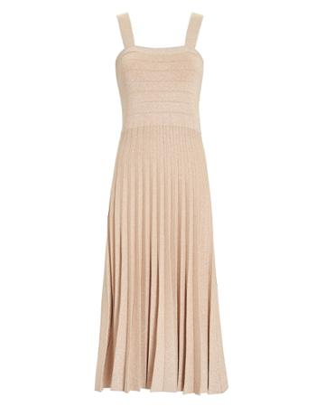 Derek Lam 10 Crosby Pleated Lurex Knit Dress Blush P