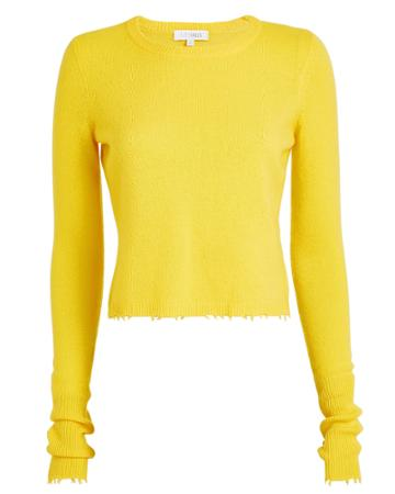 Exclusive For Intermix Intermix Valencia Cropped Cashmere Yellow Sweater Yellow P