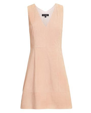 Exclusive For Intermix Intermix Sydney Suede Mini Dress Blush 2