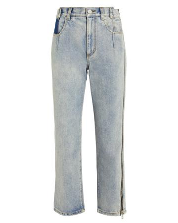 3.1 Phillip Lim Zipper Seam High-rise Jeans Light Wash Denim 6