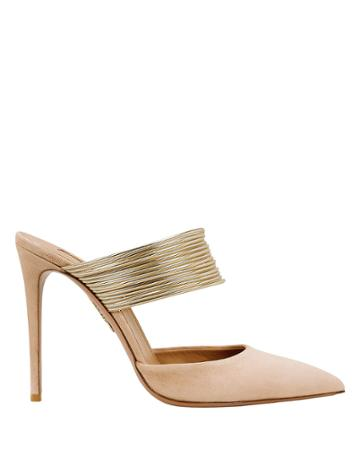 Aquazurra Aquazzura Rendez Vous Suede Pumps Blush 40