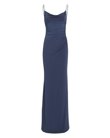 Katie May Surreal Open Back Gown Dark Blue S